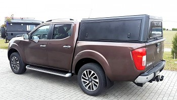 Hardtop hliníkový Nissan Navara D40 Double Cab 2005 – 2015