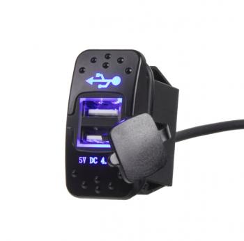 2x USB zásuvka 12/24V, 4,2A