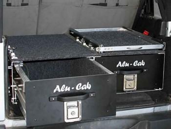 Alu-Cab Dvojitá zásuvka hloubka 148cm