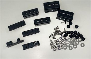 Alu-Cab Patky na příčníky 40mm černá